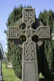 被摆正的凯尔特十字架 免版税库存图片