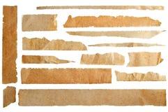被撕毁的变老的纸张 库存图片