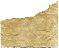 被撕毁的古色古香的纸张 免版税库存照片