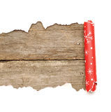 被撕毁的圣诞节装饰纸张 免版税库存照片