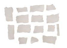 被撕毁的收集灰色纸张 免版税库存照片