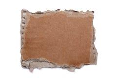 被撕毁的空白纸板符号 免版税库存图片