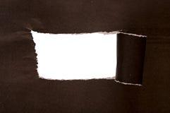 被撕毁的纸张 库存照片