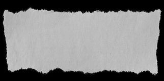 被撕毁的纸张 库存图片