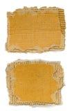 被撕毁的纸板部分 免版税库存照片