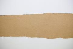 被撕毁的纸空间背景 免版税库存图片