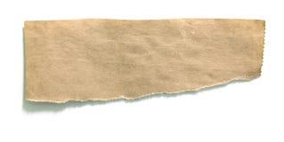 被撕毁的纸部分 免版税图库摄影