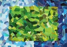被撕毁的纸绿色纹理  免版税库存图片