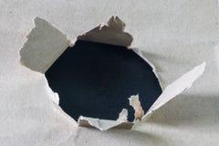 被撕毁的纸 库存图片