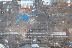 被撕毁的老海报 免版税库存照片