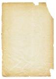 被撕毁的老纸张 免版税库存图片