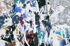 被撕毁的背景grunge老海报 库存照片