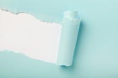 被撕毁的色纸 免版税库存图片