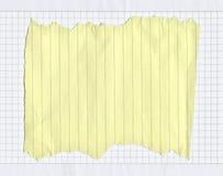 被撕毁的被排行的纸部分 免版税库存图片