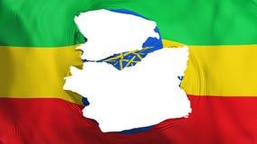 被撕碎的埃塞俄比亚旗子 皇族释放例证