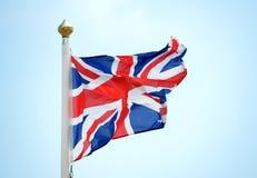 被撕碎的英国国旗 免版税库存照片