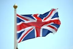 被撕碎的英国国旗 库存图片