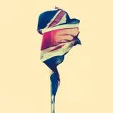 被撕碎的英国旗子 库存图片