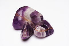 被擦亮的紫晶 免版税库存照片
