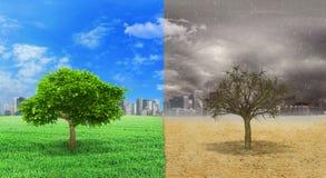 被改变的气候的概念 库存图片