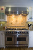 被改造的厨房豪华现代 库存照片