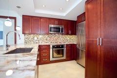 被改造的厨房 免版税库存图片