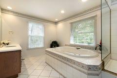被改造的浴家庭重要资料 库存照片