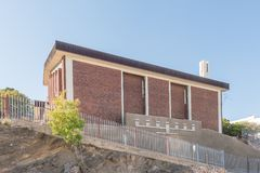 被改革的教会在温得和克 免版税库存照片