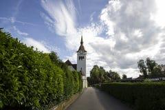 被改革的教会在Arlesheim 免版税库存图片