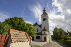 被改革的教会在Arlesheim 库存照片