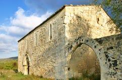 被放弃的中世纪教会在西西里岛 库存照片