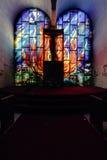 被放弃的五颜六色的犹太犹太教堂圣所 免版税库存图片