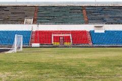 被放弃的体育场领域和论坛  免版税库存图片