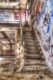 被放弃的修造的楼梯 图库摄影