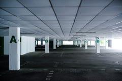 被放弃的停车场 免版税图库摄影