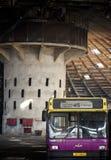 被放弃的公共汽车舰队 库存图片