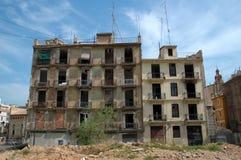 被放弃的公寓南西班牙 免版税库存图片