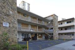 被放弃的公寓在威基基檀香山夏威夷 库存照片