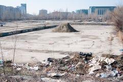 被放弃的共产主义建造场所 库存照片