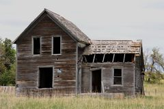 被放弃的农厂家在中西部 库存照片