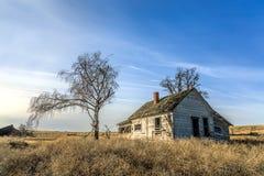 被放弃的农厂房子在华盛顿 免版税图库摄影