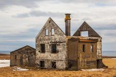 被放弃的农场在冰岛 免版税库存图片