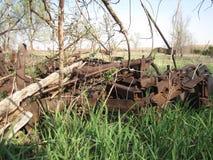 被放弃的农场设备 免版税库存照片