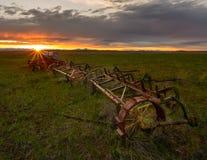 被放弃的农场设备 免版税图库摄影