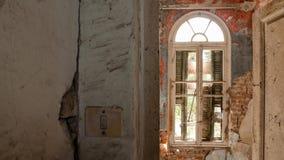 被放弃的别墅-希腊 免版税库存照片