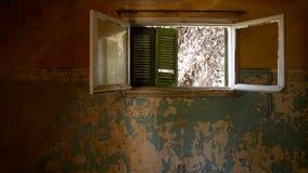 被放弃的别墅-希腊 库存照片