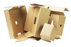 被放弃的包装的纸板 免版税库存图片