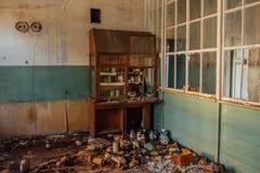 被放弃的化工实验室 库存照片