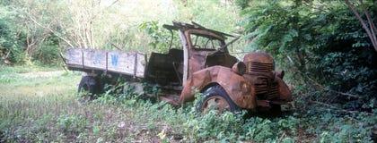 被放弃的卡车 库存图片