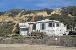 被放弃的历史的家在Crysal小海湾国家公园 免版税库存图片